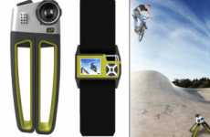 Extreme Sports Cameras - 4P Uses GPS Beacon Armstrap for Self-Filming Video Action