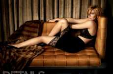 Lingerie Lounging - Mandy Moore's Sofa-Bed Photo Shoot For Details Magazine