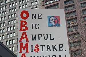 Vehement Tax Day Tea Party Signs in Chicago Bash Barack Obama