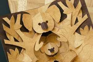 Kirigami Paper Cutting Patterns for Crafting Projects