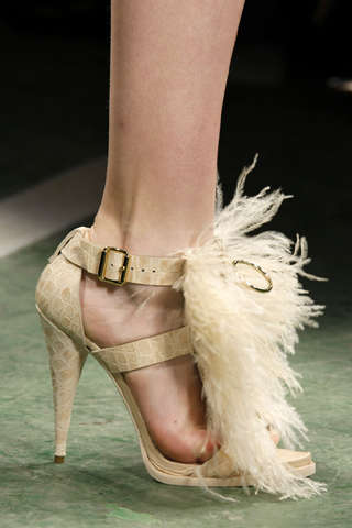 Spiked & Feathered Sandals