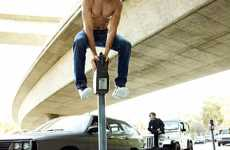 Hollywood Photography Stunts - GQ Magazine Shows Zac Efron Jumping on Cars