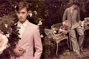 GQ Russia's Menswear Amid Blooms for Spring 2009
