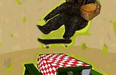 Skateboarding Turkeys - Brilliant Fantasy Illustrations From Huey Crowley
