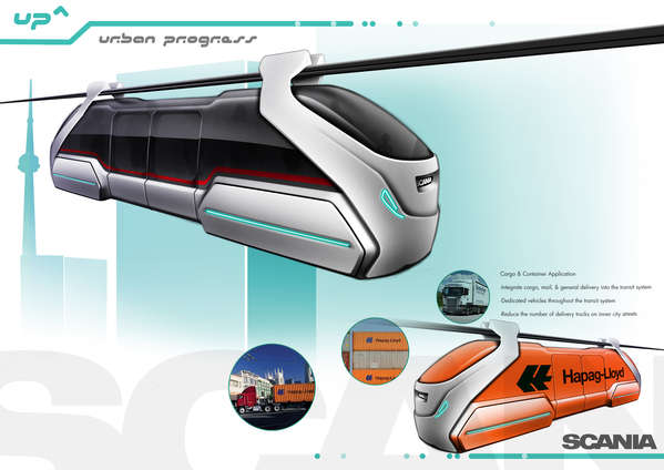 Futuristic Suspended Trains