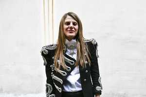 Skin Tight Black Trousers Rule Paris Street Style April 2009