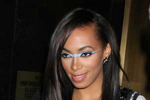 Solange Knowles Rocks a Ridge of Blue Eye Makeup