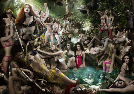 Forest Sprites in Lingerie - Agent Provocateur's 'The Call of the Siren' Features Fairy Warrio