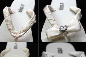 Fancy White J*Flops Sandals Are Perfect For a Seaside Wedding