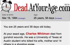 DeadAtYourAge.com Reminds You Who You've Outlived