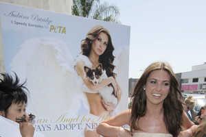 Audrina Patridge Channels the 70s to Unveil PETA Billboard
