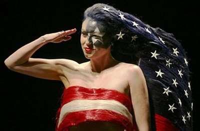 Wild Patriotic Hairstyles - Sculptural Styles Showcase Regional Pride