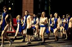 Auto Nudevertising - Peugeot Overwhelms London Communters With Risque Ad