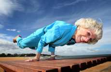 Age-Defying Yogis - At 83, Bette Calman Does 'The Peacock' Like a Breakdancer