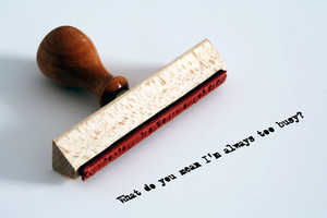 Express Your True Feelings Using These Rubber Stamps