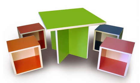 Recycled Paper Furniture - Way Basics' Green Designs Boast Tool-Free Assembly