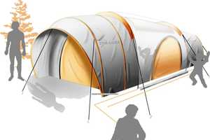 Daniel Thomas' 'Star Gazer' Tent Has Illuminated Interior