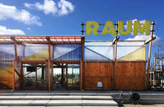 Sustainability-Focused Pavilion Designs - Overtreders W's RAUM Pavilion is a Reusable Structure