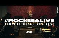 Rock Music-Themed Pop Ups - Budweiser Invites New Rock Bands to Show that #RockIsAlive