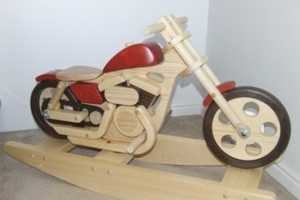 Retro Rocking Toy for Badass Baby Bikers