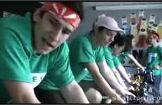 Green Employee Initiatives - Jones Soda Crew Rigs Bikes to Generate Power on Earth Day