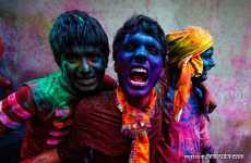 Eye-Popping Skin Tones - Poras Chaudhary Photos For Holi, the Celebration of Colors