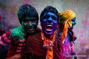 Poras Chaudhary Photos For Holi, the Celebration of Colors