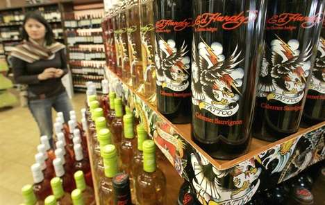 Tattoo Themed Wine - Christian Audigier's Ed Hardy Branding Hits the Bottle