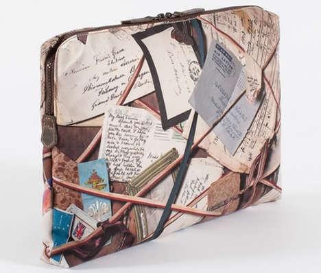 Faux Vintage Totes - Paul Smith Laptop Case Features Antique Letter Board Print