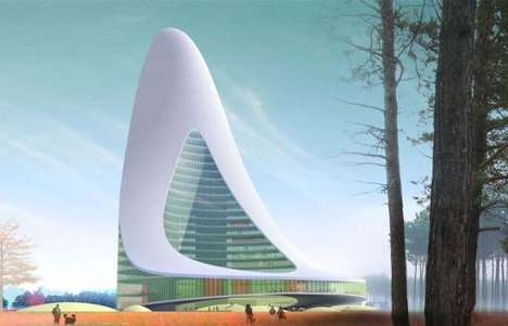 Urinal Shaped Towers - Swedish Swan Skyscraper Proves City Overflows With Pride