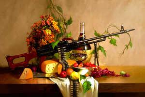 Geliografic Mixes Flowers with Machine Guns