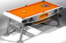 Musical Pool Tables - Debut Lunar Billiards Table Features Built-In Speakers
