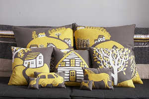 Interchangeable 'Village Pillows' From Rachael Cole