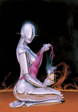 Pin-Up Girl Robots - Hajime Sorayama's Chrome Paintings Look Like Sexy C3P0s