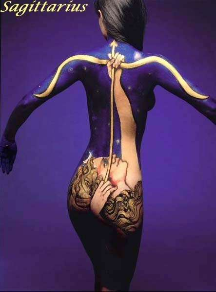 Astrology Body Painting