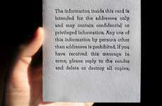 Privacy Disclaimer Stationery - Blank Cards Feature Confidentiality Legalese from E-Mails