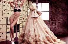 Posing Beside Dresses - 'State of Grace' by Mario Testino in British Vogue