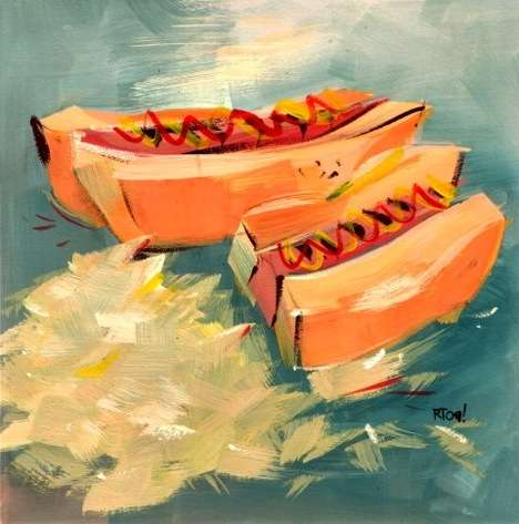 Artistic Food Diaries - Riki Takaoka Draws or Paints Everything He Eats
