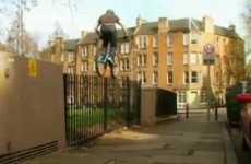 Urban Tightrope Bicycling