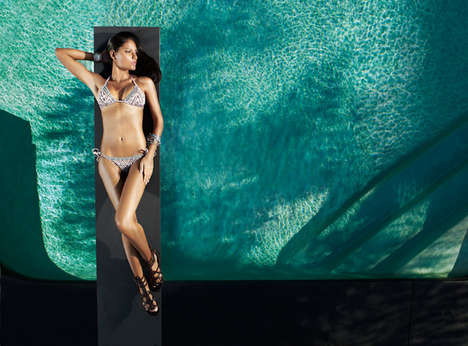 Sizzling Poolside Swimwear Ads