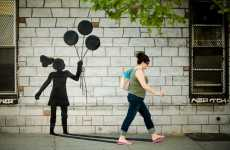 Guerrilla Street Shadows - Katie Sokoler's Playful Street Art Project