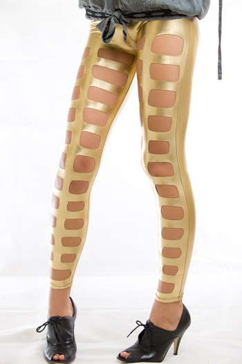 Golden Tights - Leggings Get A Taste of the Midas Touch