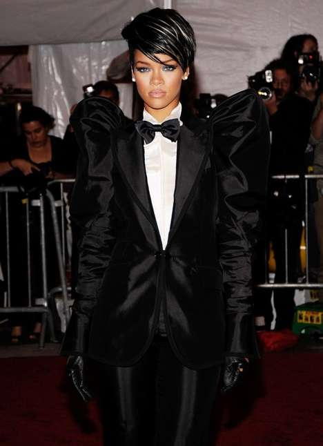 Female Tuxedos - Rihanna at 2009 Costume Institute Gala at the Met in NYC