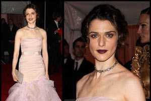 Rachel Weisz Rocks Goth Lips at 2009 Costume Institute Gala