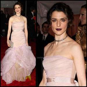 Punky Princess Gowns - Rachel Weisz Rocks Goth Lips at 2009 Costume Institute Gala