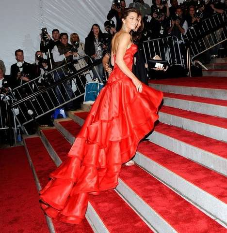 Red Carpet Tails - Jessica Biel at the Met Costume Institute Gala in NYC