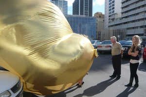 Gilded 'Auto Garage' Parking Lot Project by Ines Tartler