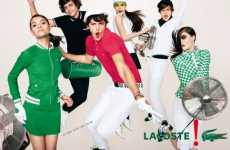 Group Jumping Ads - Lacoste Spring/Summer Campaign Shot in Mid-Air