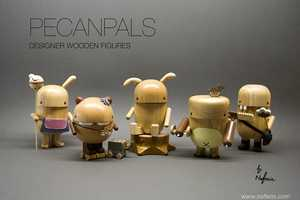 Kooky Collectible Pecanpals Made from Rubber Trees