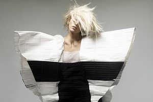 Striking 'Black/White' for British Vogue March 2009